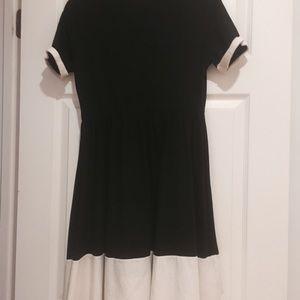 Asos Maternity Black and cream dress